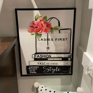 Framed Fashion wall decor 16x20